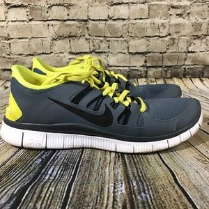 Nike Free Men's Size 11.5 Gray Yellow Shoes